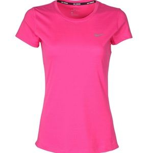 Nike DriFit Stay Cool Pink Short Sleeve Top XS NWT